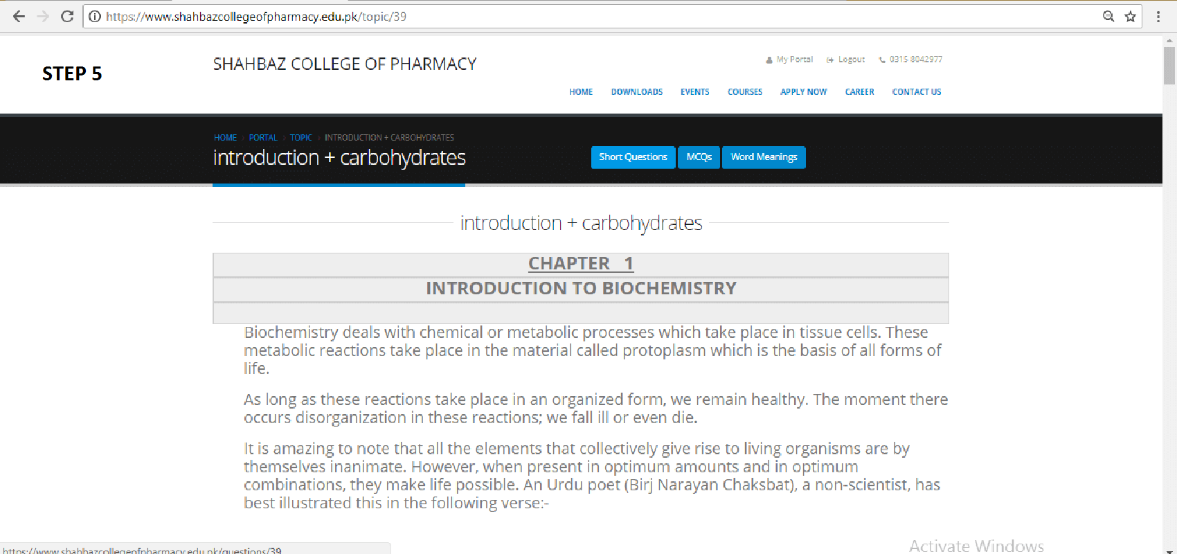 SHAHBAZ COLLEGE OF PHARMACY ONLINE PHARMACY TECHNICIAN STUDY STEP 5